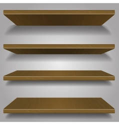 wood bookshelf design vector image