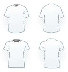 T-shirt design template set vector