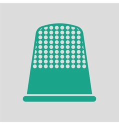 Tailor thimble icon vector