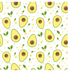 Avocado seamless pattern for print and fabric vector