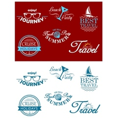 Travel headers and tags vector