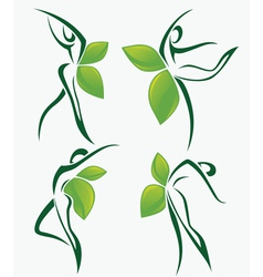 Nature dance and beauty vector