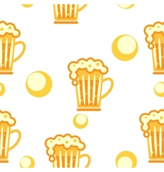 Seamless pattern cold drinks vector