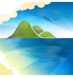 Tropical islands dreams vector