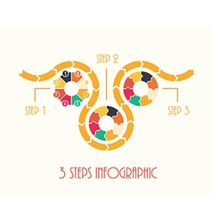 3 steps infographic vector