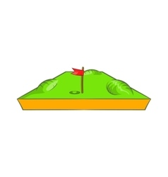 Golf course icon cartoon style vector