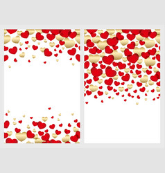 a set of seamless backgrounds for valentines day vector image