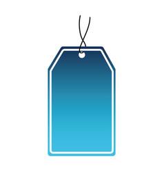 Blue tag icon vector