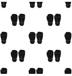 Boxing gloves icon in black style isolated on vector