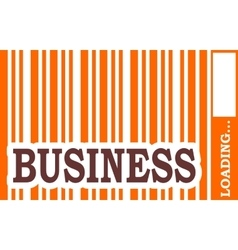 Business word build in bar code vector
