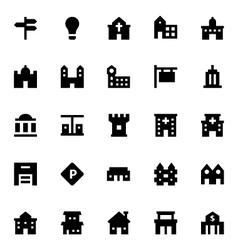 City elements icons 2 vector