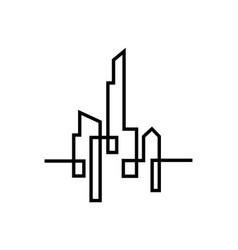 City silhouette flat design vector