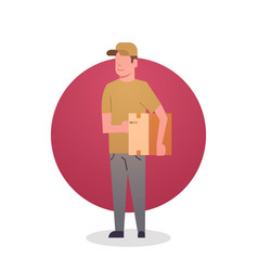 courier boy icon postal service delivery worker vector image vector image