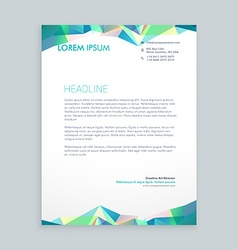 Creative abstract shapes letterhead design vector