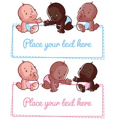 Cute little baby on a white background vector image