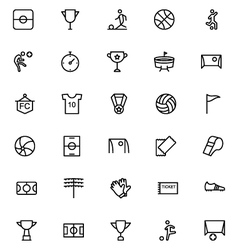 Football line icons 1 vector