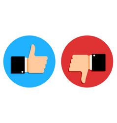Good and bad signs set social media vector