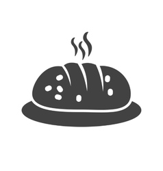 Hot bread vector