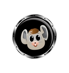 Image mouse rocket porthole vector