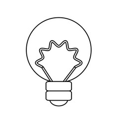 isolated energy bulb vector image vector image