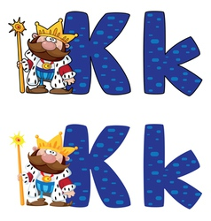 letter K king vector image vector image