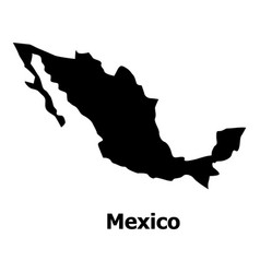 mexico map icon simple style vector image
