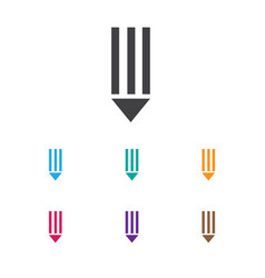 of bureau symbol on pen icon vector image vector image