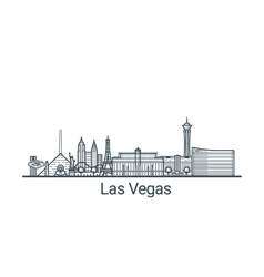 Outline las vegas banner vector