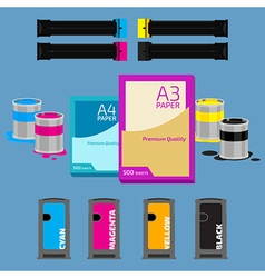 Paper and cartridges vector