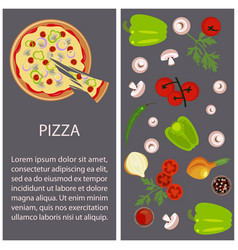 pizza restaurant menu vector image