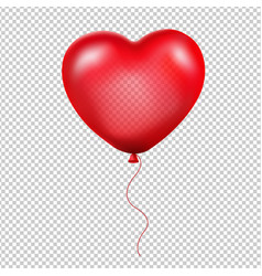 red heart balloon vector image vector image