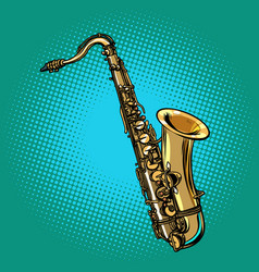 saxophone musical instrument vector image vector image