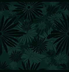 Seamless floral pattern with green and gray vector