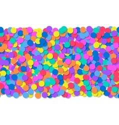 Seamless pattern of colorful confetti Festive vector image