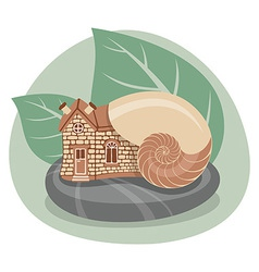 Snail house vector