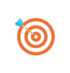 Target isolated icon - flat design vector image
