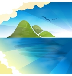 Tropical islands dreams vector image vector image