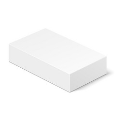 white product cardboard package box vector image vector image
