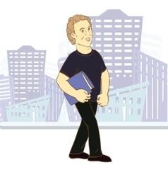 Young man cartoon character vector image vector image