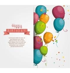 Happy birthday design isolated vector