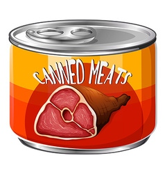 Meats in aluminum can vector