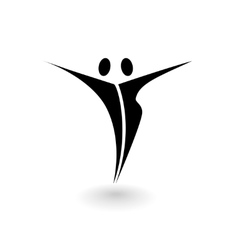 Stylized logo with a male and female figure vector image