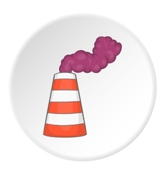 Factory chimney icon flat style vector
