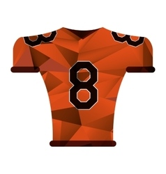 American football jersey uniform tshirt abstract vector