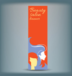 banner with stylish woman silhouette vector image