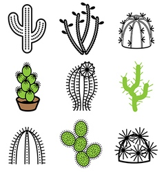 logo icons cactus vector image