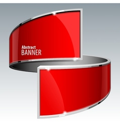Shiny gloss red banner eps 10 vector