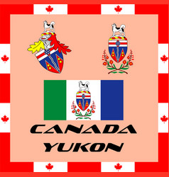 Official government elements of canada - yukon vector
