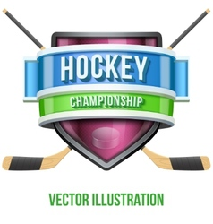 Label for hockey sport competition bright premium vector