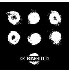 Set of Grunged Dots vector image